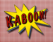 Explode Prints - Kaboom Pop Art Print by Suzanne Barber
