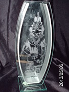 Glass Etching Glass Art - Kachina by Ralph Renick