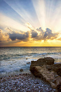 Beach Sunsets Posters - Kaena Point State Park Sunset 2 - Oahu Hawaii Poster by Brian Harig