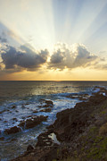 Paradise Point Prints - Kaena Point State Park Sunset 3 - Oahu Hawaii Print by Brian Harig