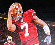 Colin Kaepernick Framed Prints - Kaepernicking 16x20 Framed Print by Absolon Moreau