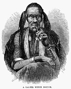 Smoker Framed Prints - Kaffir Witch Doctor, 1864 Framed Print by Granger