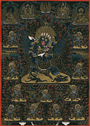 Tibet Mixed Media Prints - Kagye Heruka Mindroling Print by Chris  Banigan