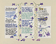 Calligraphy Art Framed Prints - Kahlil Gibran - Children Framed Print by Dave Wood