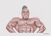 Warren Drawings Acrylic Prints - Kai Greene Acrylic Print by Toni Jaso