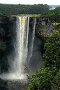 Stefan Carpenter Posters - Kaieteur Falls Afar Poster by Stefan Carpenter