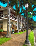 Pen Digital Art - Kailua Village - Kona Hawaii by James Eddy