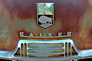 Vintage Auto Prints - Kaiser Vintage Grill Print by Tony Grider