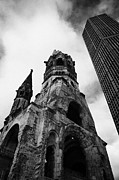 Berlin Art - Kaiser Wilhelm Gedachtniskirche memorial church next to the new church Berlin Germany by Joe Fox