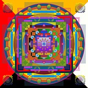 Tibet Digital Art Prints - Kalachakra 2013 Print by Kathryn Strick