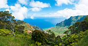 Ocean Panorama Metal Prints - Kalalau Valley  Metal Print by Adam Pender