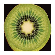 Kiwi Art Digital Art Framed Prints - Kaleido Kiwi Fruit Framed Print by Ck Gandhi