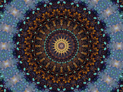 Mystical Mixed Media Prints - Kaleidoscope 1 Print by Tom Druin