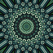 Tube Digital Art Metal Prints - Kaleidoscope 10 Metal Print by Tom Druin