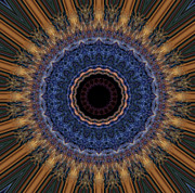 Symmetrical Digital Art Posters - Kaleidoscope 11 Poster by Tom Druin