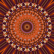 Flower Kaleidoscopes Prints - Kaleidoscope 8 Print by Tom Druin
