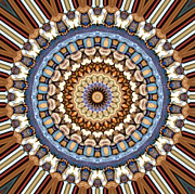 Symmetrical Design Prints - Kaleidoscope 9 Print by Tom Druin