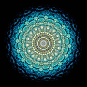 Liquid Posters - Kaleidoscope Aquamarine Bubbles Poster by Amy Cicconi