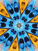 Boating Framed Prints - Kaleidoscope Canoes Framed Print by Amy Cicconi
