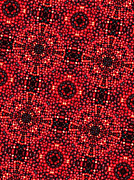 Kaleidoscope Cranberries Print by Amy Cicconi