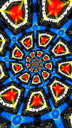 Psychadelic Framed Prints - Kaleidoscope of Primary Colors Framed Print by Amy Cicconi