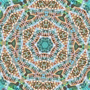 Circle Prints - Kaleidoscope Pineapple Print by Cathy Lindsey