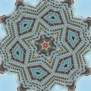 Mirror Prints - Kaleidoscope Red Star Print by Cathy Lindsey