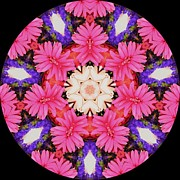 Shapes Prints - Kaleidoscope Wedding Bouquet Print by Cathy Lindsey
