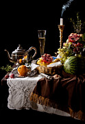 Heem Art - Kalf - Banquet with Fruits by Levin Rodriguez