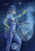 Goddess Kali Framed Prints - Kali Destroyer Framed Print by Alan  Hawley