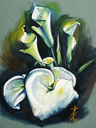 Modern Acrylic Paintings - Kalos The Calla Lily by Alessandra Andrisani