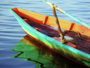 Row Boat Prints - Kampot Boat 01 Print by Rick Piper Photography