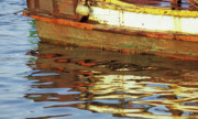 Trawler Metal Prints - Kampot Boat 02 Metal Print by Rick Piper Photography