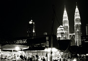 Brave New World Prints - Kampung Baru Petrona Towers Print by Shaun Higson