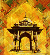 India Metal Prints - Kamrans baradari Metal Print by Catf