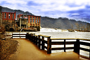 Power Plants Framed Prints - Kanawha Falls Framed Print by Lj Lambert