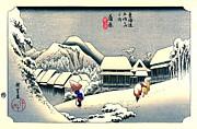 1833 Photos - Kanbara Station Tokaido Road 1833 by Padre Art