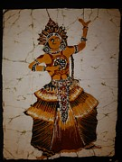 Dancer Tapestries - Textiles - Kandian dancing boy by Sri Lankan artist