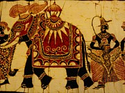 Musicians Tapestries - Textiles Originals - Kandy Esala Perahera Part Two by Sri Lankan artist