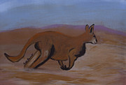 Kangaroo Paintings - Kangaroo by Kate Farrant