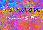 Abstract Expressionism Paintings - Kannon - Unchained and Free by Christopher Gaston