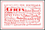 All - Kansas City Chiefs Game Day Food 3 by Andee Photography