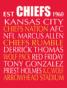 Afc Prints - Kansas City Chiefs Print by Jaime Friedman