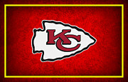 Football Helmets Posters - Kansas City Chiefs Poster by Joe Hamilton