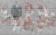Christmas Greeting Photo Framed Prints - Kansas City Chiefs Legends Framed Print by Joe Hamilton