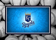 Baseballs Framed Prints - Kansas City Royals Framed Print by Joe Hamilton