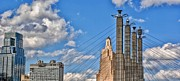 Kansas City Mixed Media Metal Prints - Kansas City Skyline 2 Metal Print by Todd and candice Dailey