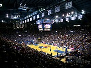 Athletics Photo Prints - Kansas Jayhawks Allen Fieldhouse Print by Replay Photos