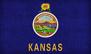 Kansas State Flag Print by Pixel Chimp
