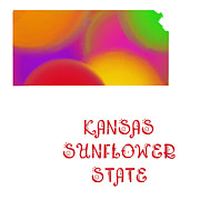 Abstract Map Prints - Kansas State Map Collection 2 Print by Andee Photography
